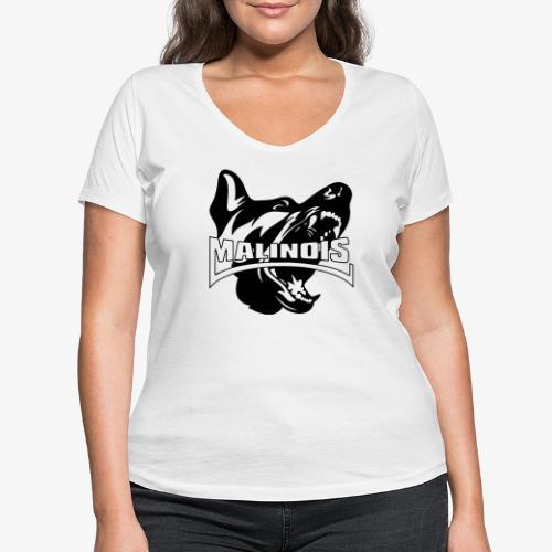 malinois - T-shirt bio col V Stanley & Stella Femme