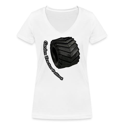Børne Tractor pulling - Økologisk Stanley & Stella T-shirt med V-udskæring til damer
