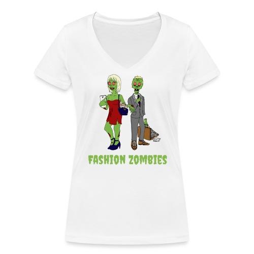 Fashion Zombie - Women's Organic V-Neck T-Shirt by Stanley & Stella