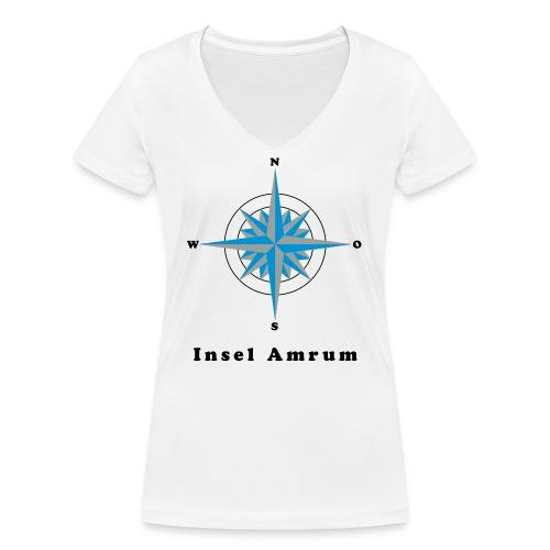 Windrose - Frauen Bio-T-Shirt mit V-Ausschnitt von Stanley & Stella