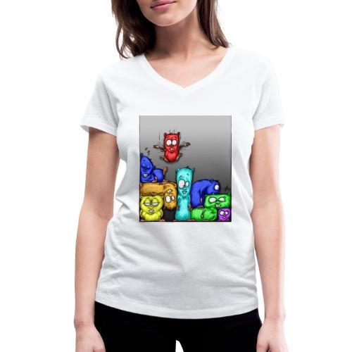 hamstris_farbe - Frauen Bio-T-Shirt mit V-Ausschnitt von Stanley & Stella