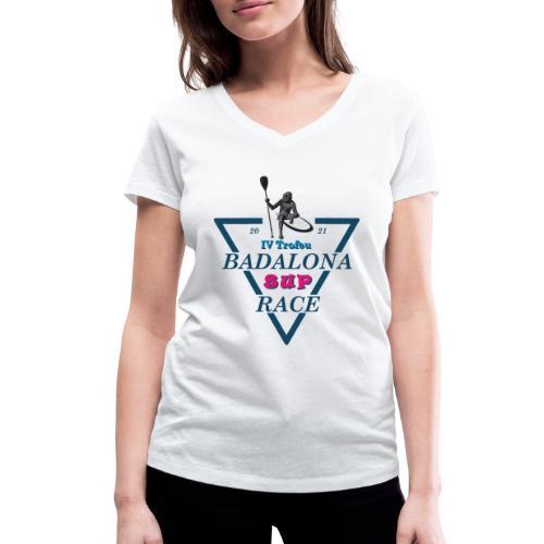 Badalona Sup Race 2021 - Camiseta ecológica mujer con cuello de pico de Stanley & Stella
