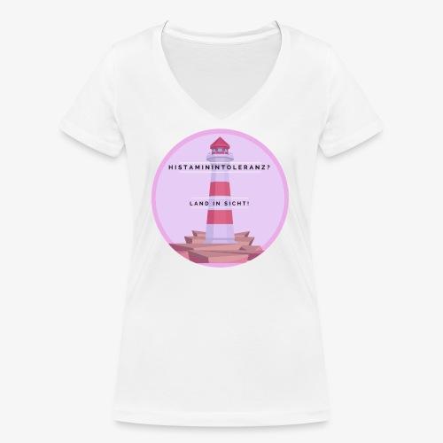 Histaminintoleranz – Land in Sicht - Frauen Bio-T-Shirt mit V-Ausschnitt von Stanley & Stella