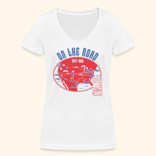 TShirtOntheRoad copy - Camiseta ecológica mujer con cuello de pico de Stanley & Stella