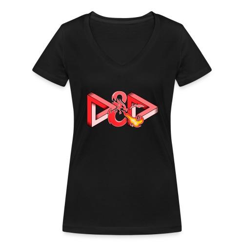 Pysyvät Dungeons and Dragons - dnd d & d - Stanley & Stellan naisten v-aukkoinen luomu-T-paita