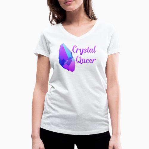 Crystal Queer - Women's Organic V-Neck T-Shirt by Stanley & Stella