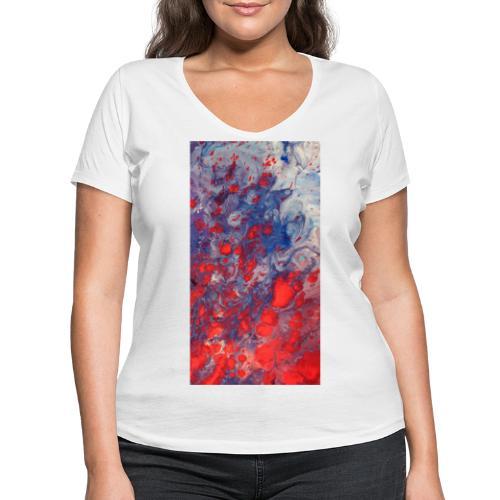 Fury - Vrouwen bio T-shirt met V-hals van Stanley & Stella