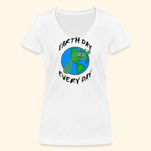 Earth Day Every Day - Frauen Bio-T-Shirt mit V-Ausschnitt von Stanley & Stella