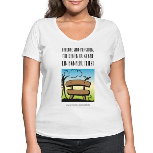 Bankerl-Freunde - Frauen Bio-T-Shirt mit V-Ausschnitt von Stanley & Stella