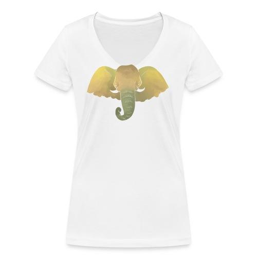 Elefant - Elefantenkopf - Frauen Bio-T-Shirt mit V-Ausschnitt von Stanley & Stella