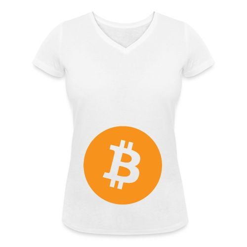 Bitcoin - Women's Organic V-Neck T-Shirt by Stanley & Stella