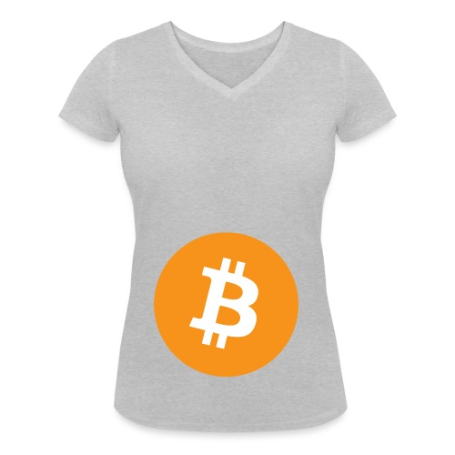 Bitcoin - Women's Organic V-Neck T-Shirt by Stanley & Stella