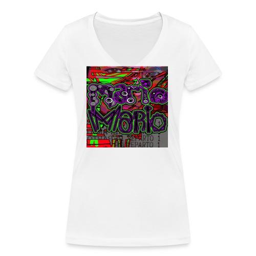 Mario Mario - T-shirt ecologica da donna con scollo a V di Stanley & Stella