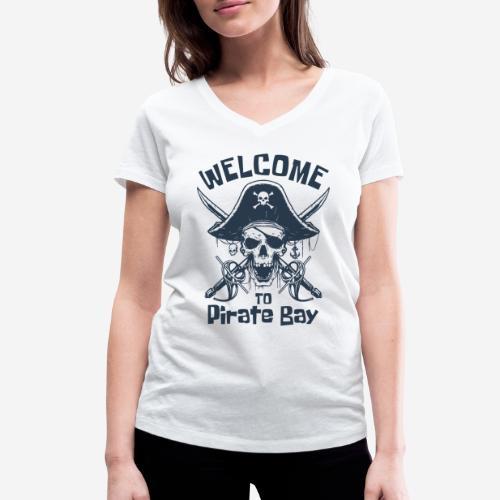 Piratenbucht Seemann - Frauen Bio-T-Shirt mit V-Ausschnitt von Stanley & Stella