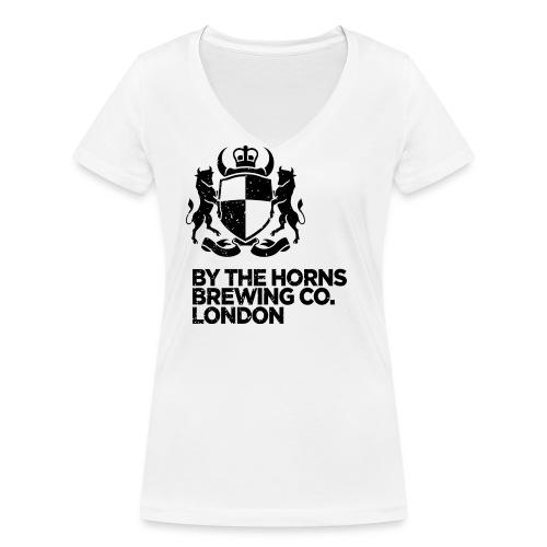 BTH Logo Textured Black png - Women's Organic V-Neck T-Shirt by Stanley & Stella