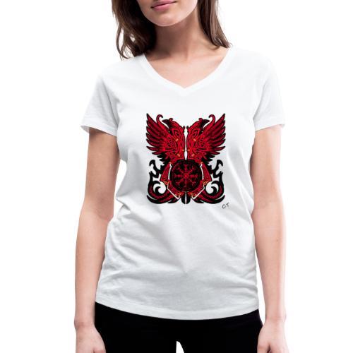 vikings - T-shirt ecologica da donna con scollo a V di Stanley & Stella