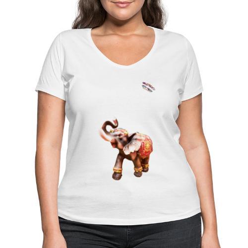 Elefant Junior Randy Design - Frauen Bio-T-Shirt mit V-Ausschnitt von Stanley & Stella