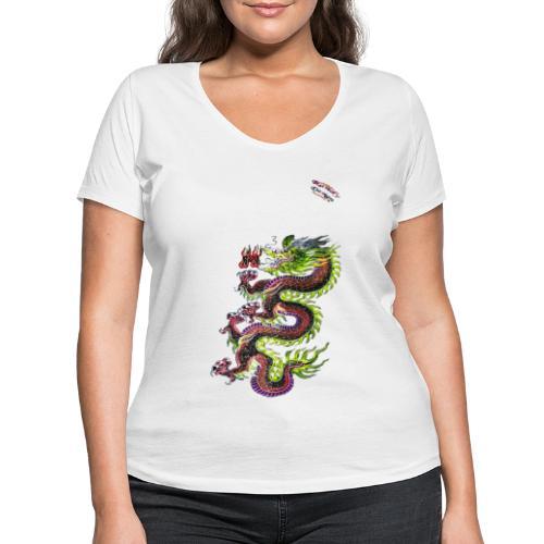 Dragon Randy Design - Frauen Bio-T-Shirt mit V-Ausschnitt von Stanley & Stella