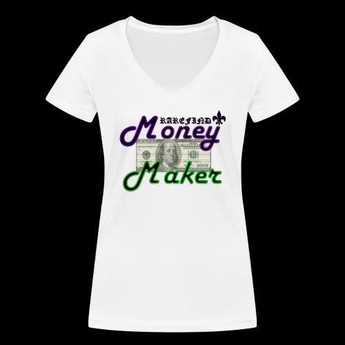 RF MONEY MAKER - Women's Organic V-Neck T-Shirt by Stanley & Stella