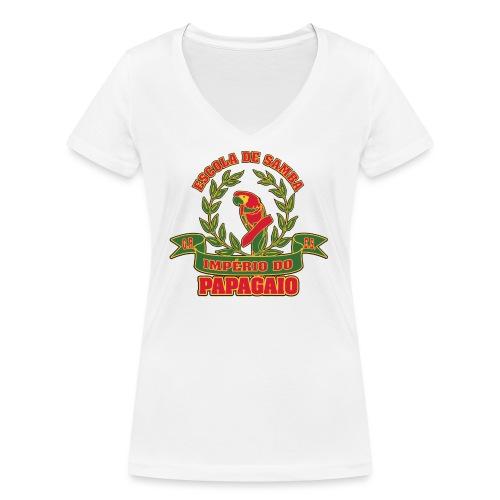 Papagaio logo - Stanley & Stellan naisten v-aukkoinen luomu-T-paita