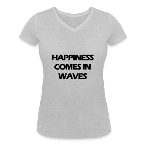 Happiness comes in waves - Ekologisk T-shirt med V-ringning dam från Stanley & Stella