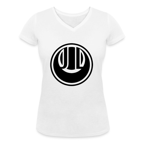 JADE LUNE MONOCHROME (INVERTED) - Women's Organic V-Neck T-Shirt by Stanley & Stella