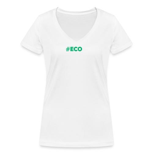 #ECO Blue-Green - Frauen Bio-T-Shirt mit V-Ausschnitt von Stanley & Stella