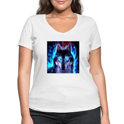 Ice Wolfs Esport Merch - Økologisk Stanley & Stella T-shirt med V-udskæring til damer