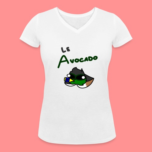 Le Avocado - Women's Organic V-Neck T-Shirt by Stanley & Stella