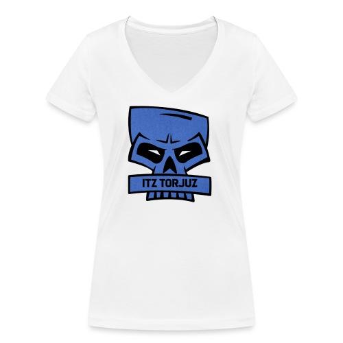 Itz Torjuz - Økologisk T-skjorte med V-hals for kvinner fra Stanley & Stella