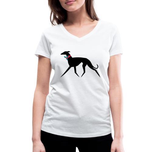 Weihnachtswindhund - Frauen Bio-T-Shirt mit V-Ausschnitt von Stanley & Stella