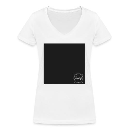 Trucy Schwarz - Frauen Bio-T-Shirt mit V-Ausschnitt von Stanley & Stella