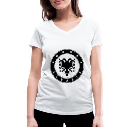 Patrioti Albania Black - Frauen Bio-T-Shirt mit V-Ausschnitt von Stanley & Stella
