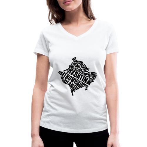 Kosovo Land mit allen Städten - Frauen Bio-T-Shirt mit V-Ausschnitt von Stanley & Stella