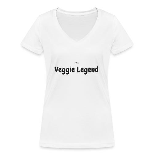 I'm a Veggie Legend - Women's Organic V-Neck T-Shirt by Stanley & Stella