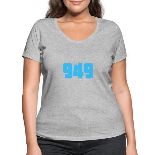 949blue - Frauen Bio-T-Shirt mit V-Ausschnitt von Stanley & Stella