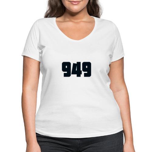 949black - Frauen Bio-T-Shirt mit V-Ausschnitt von Stanley & Stella