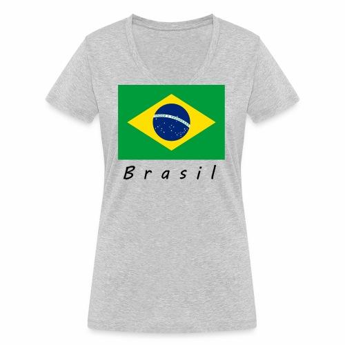 Brasil - Frauen Bio-T-Shirt mit V-Ausschnitt von Stanley & Stella