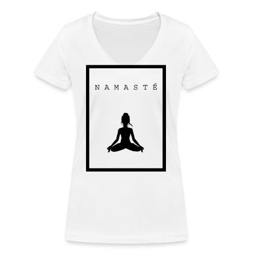 Namasté - Vrouwen bio T-shirt met V-hals van Stanley & Stella