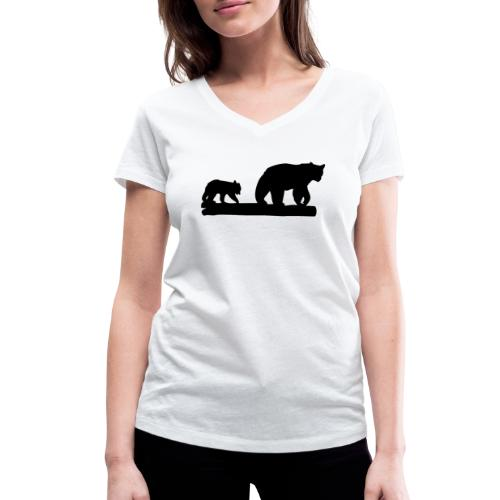 Bären Bär Grizzly Wildnis Natur Raubtier - Frauen Bio-T-Shirt mit V-Ausschnitt von Stanley & Stella