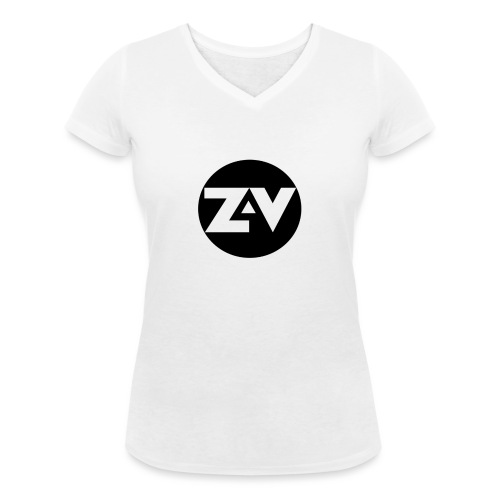 Zvooka Records Logo - Women's Organic V-Neck T-Shirt by Stanley & Stella