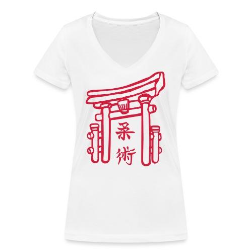 Jiujitsu_Tor - Frauen Bio-T-Shirt mit V-Ausschnitt von Stanley & Stella
