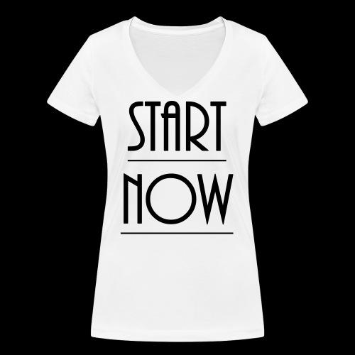 start now - Frauen Bio-T-Shirt mit V-Ausschnitt von Stanley & Stella