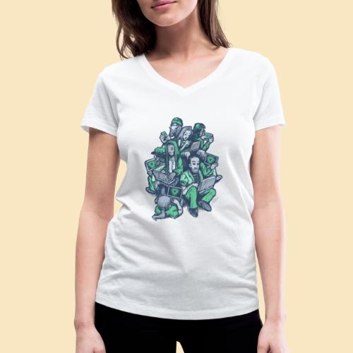 VUE - Frauen Bio-T-Shirt mit V-Ausschnitt von Stanley & Stella