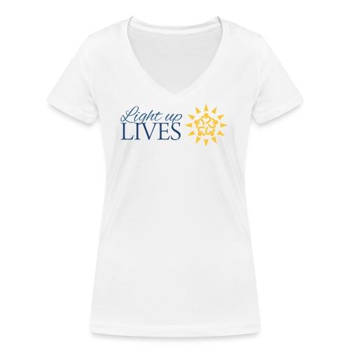 Light up Lives - Women's Organic V-Neck T-Shirt by Stanley & Stella