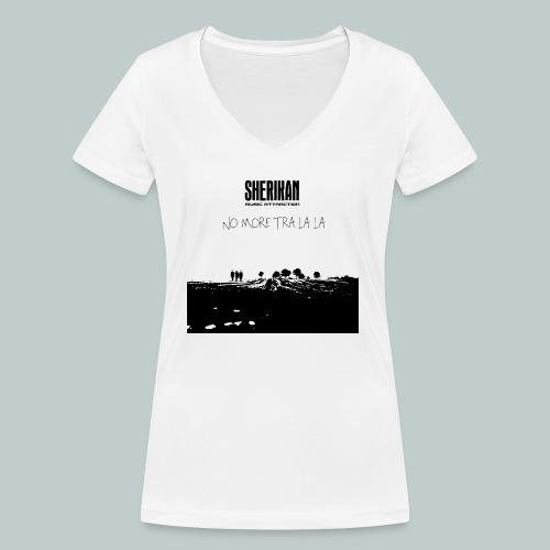 No more tra la la - Ekologisk T-shirt med V-ringning dam från Stanley & Stella