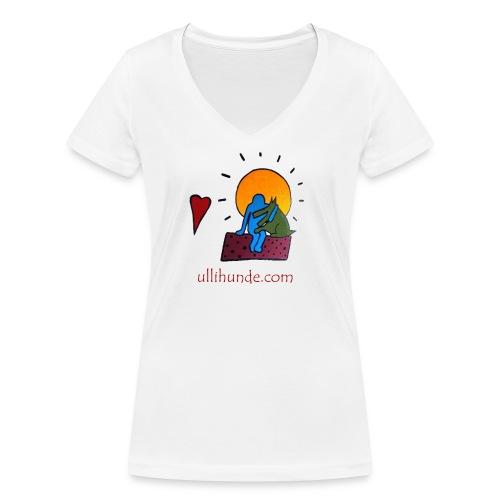 Ullihunde - Logo RETRO - Frauen Bio-T-Shirt mit V-Ausschnitt von Stanley & Stella
