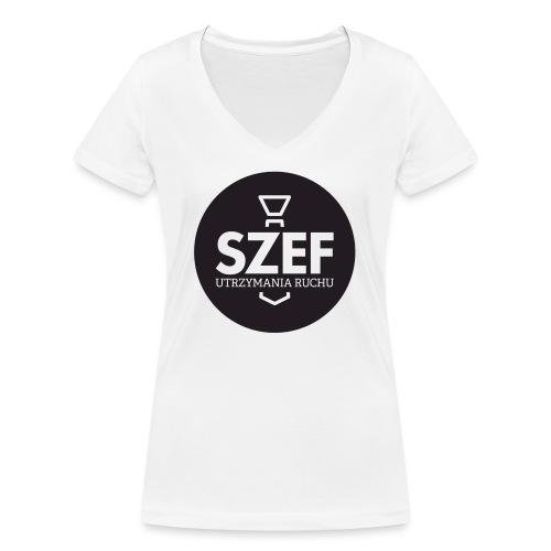 Logo-szef-utrzymania-ruchu_ok_net_black - Ekologiczna koszulka damska z dekoltem w serek Stanley & Stella