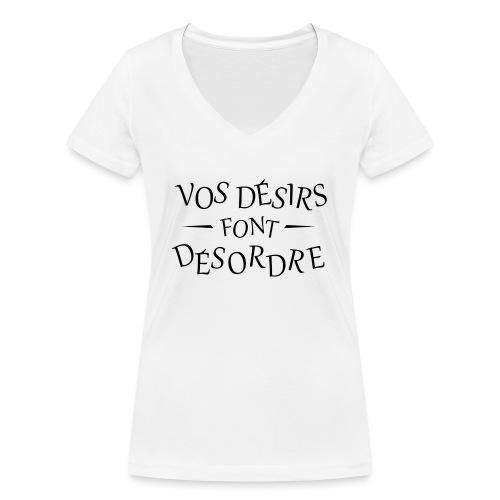Désirs désordre - T-shirt bio col V Stanley & Stella Femme