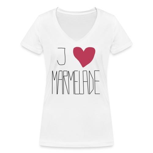 Marmeladenliebe - Frauen Bio-T-Shirt mit V-Ausschnitt von Stanley & Stella
